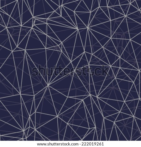 Vector seamless pattern. Modern stylish texture. Repeating geometric tiles with smooth grid. Abstract mesh background.  - stock vector