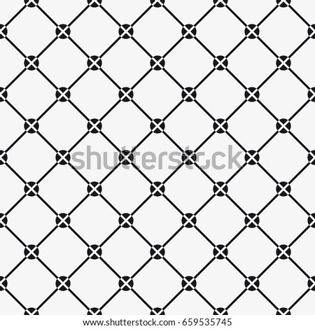 Vector seamless pattern. Modern stylish texture. Repeating geometric tiles with squares and circles.