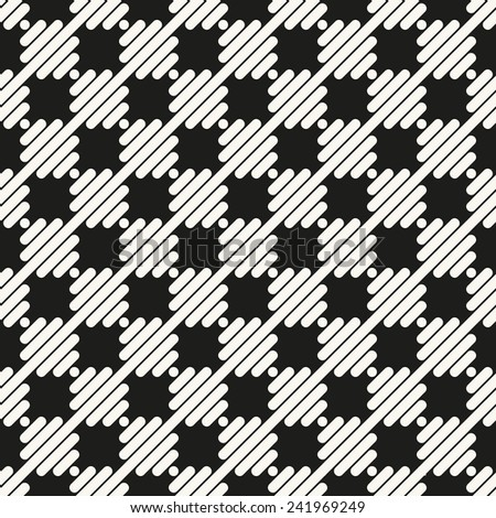 Vector seamless pattern. Modern stylish texture. Repeating geometric tiles with squares staggered - stock vector