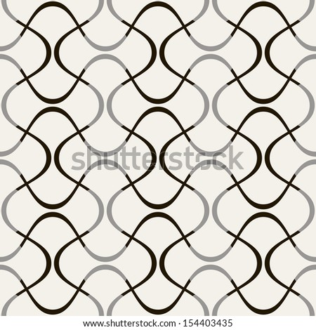 Vector seamless pattern. Modern stylish texture. Repeating geometric tiles with stylish regular mesh - stock vector
