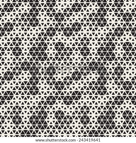Vector seamless pattern. Modern stylish texture. Repeating geometric tiles with triangles made with hexagonal grid