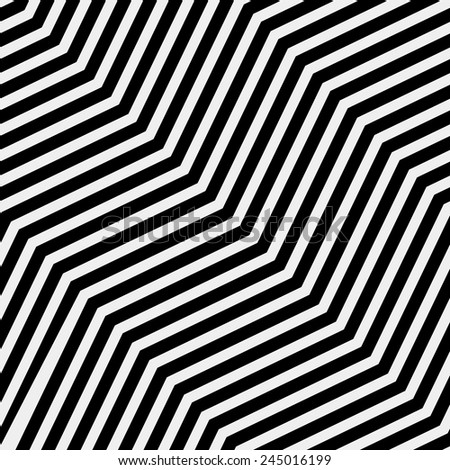 Vector seamless pattern. Modern stylish texture. Repeating geometric tiles with volume diagonal zigzag - stock vector - stock vector