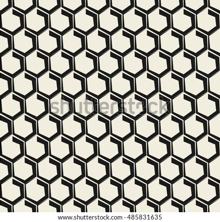 Vector seamless pattern. Modern stylish texture. Repeating hexagonal tiles.