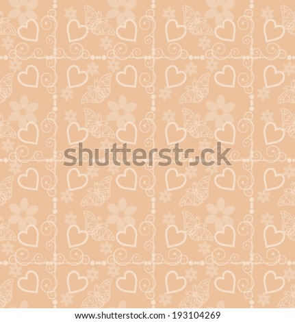 Vector seamless pattern. Modern stylish texture wallpaper for walls abstract floral pattern