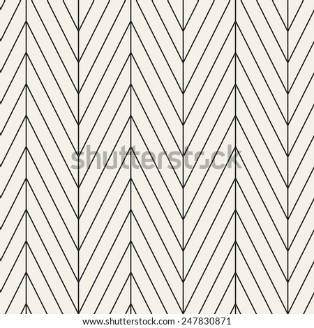 Vector seamless pattern. Modern stylish texture with chevron or zigzag. Repeating geometric background with linear grid - stock vector