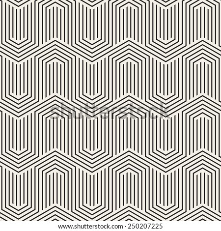 Vector seamless pattern. Modern zigzag texture. Repeating geometric background with linear grid - stock vector