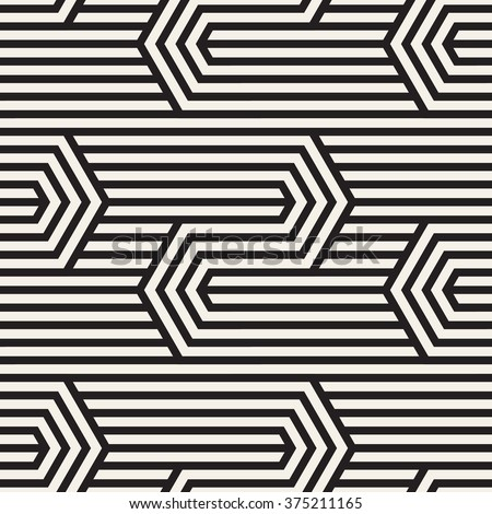 Vector seamless pattern. Modern zigzag texture. Repeating geometric background with linear grid. - stock vector