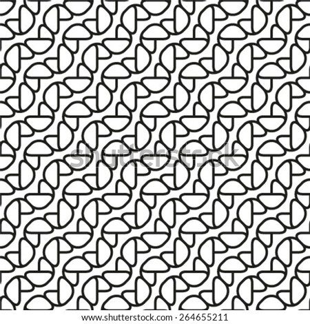 Vector seamless pattern. Monochrome ornament, geometric stylish background.  - stock vector