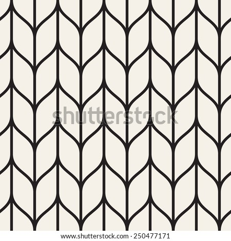Vector seamless pattern. Monochrome regular stylish grid. Smooth chevron regular trellis - stock vector