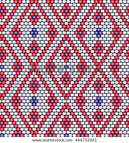 Vector seamless pattern of beads