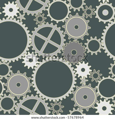 vector seamless pattern of gears