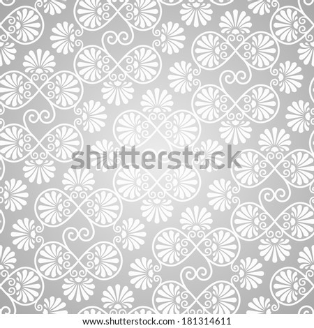 vector seamless pattern on gradient background, seamless pattern in swatch menu - stock vector