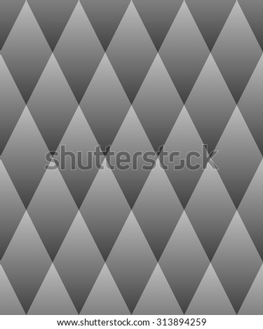 Vector seamless pattern. Optical illusion geometric tiles with gray rhombuses - stock vector