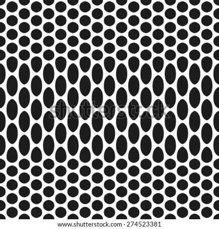 Vector seamless pattern, repeating abstract background with dots - stock vector