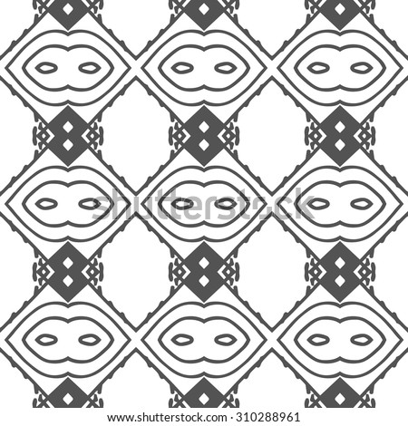 Tribal Aztec Seamless Pattern Skull On Stock Vector 200798525 Shutterstock