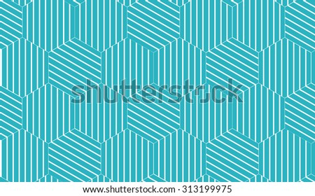Vector seamless pattern. Repeating geometric ornament with octagons and rhombuses - stock vector