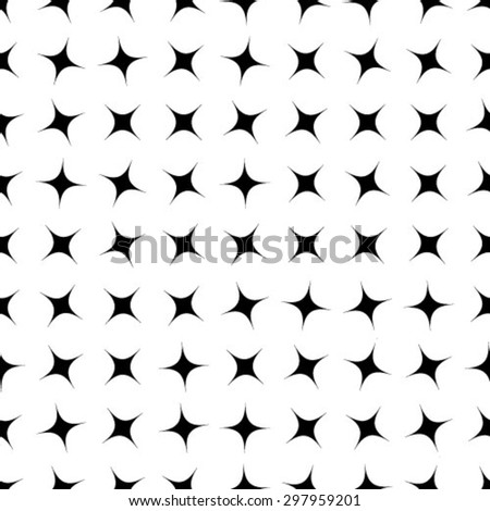 Vector seamless pattern, repeating geometric tiles - stock vector