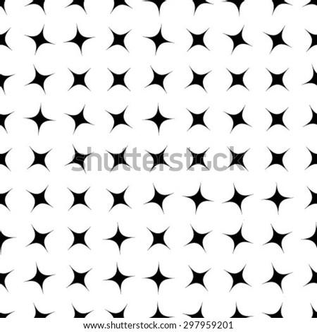 Vector seamless pattern, repeating geometric tiles - stock vector