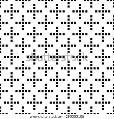 Vector seamless pattern. Repeating geometric tiles with squares - stock vector