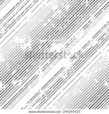 Vector Seamless Pattern . Seamless Texture with Grunge Elements . Grunge Stripes . Diagonal Lines Background . Vintage texture . Retro Background . Scratch Texture . Dirty Distress Texture .  - stock vector