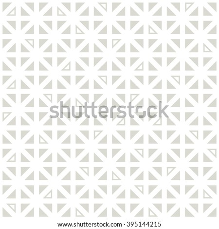 Vector seamless pattern. Simple background with triangles. Geometric abstract texture. - stock vector