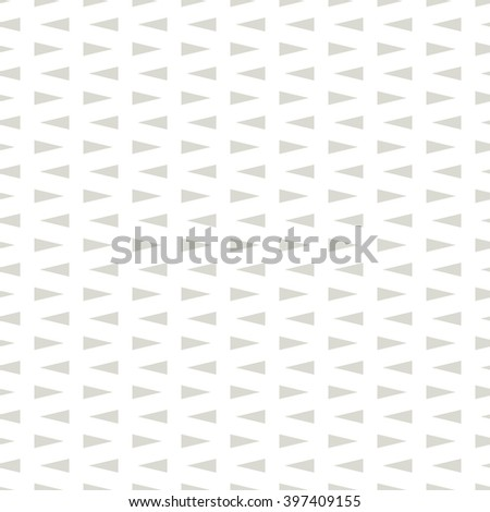 Vector seamless pattern. Simple background with triangles. Geometric abstract texture. Minimalistic hipster swatch. - stock vector