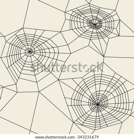 Vector seamless pattern. Spider web background texture.