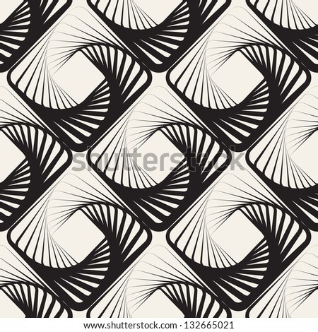 Vector seamless pattern. Spiral rhombuses. Modern stylish texture. Repeating geometric tiles - stock vector