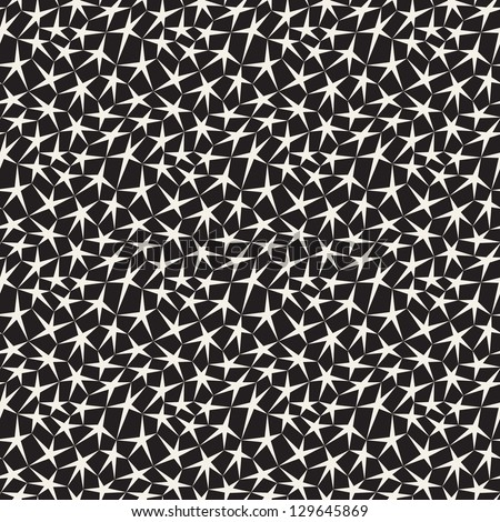 Vector seamless pattern. Starry background.. Endless stylish texture - stock vector