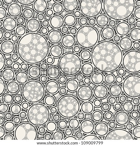 vector seamless pattern. stylish background with rings - stock vector