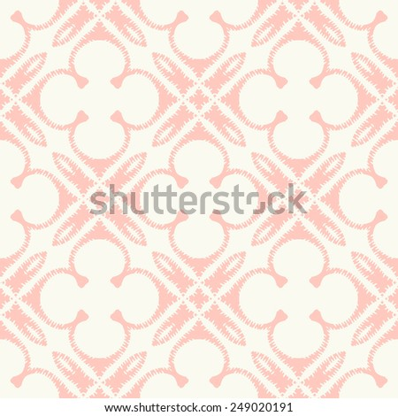 Vector seamless pattern. Stylish fabric print with abstract ragged design. - stock vector