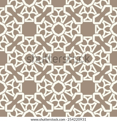 Vector seamless pattern. Stylish fabric print with ethnic eastern design.