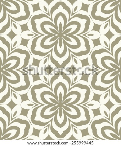 Vector seamless pattern. Stylish fabric print with geometric hexagonal design. - stock vector