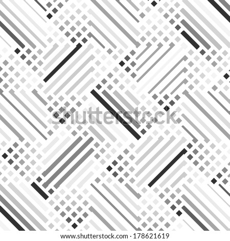 Vector seamless pattern stylish modern texture repeating geometric design - stock vector