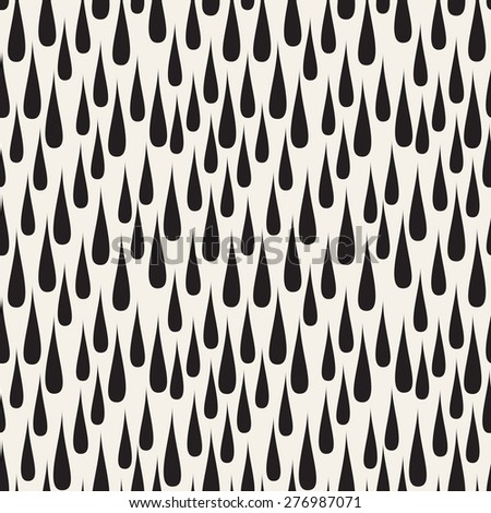 Vector seamless pattern. Stylish rainy texture. Repeating background with drops. - stock vector