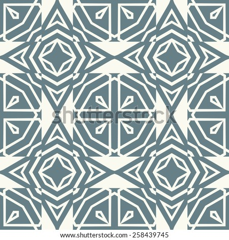 Vector seamless pattern. Stylish textile print with abstract geometric design. - stock vector