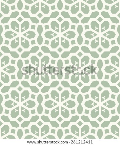 Vector seamless pattern. Stylish textile print with eastern geometric ornament. - stock vector