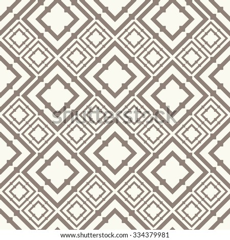 Vector seamless pattern. Stylish textile print with geometric ornament. Creative fabric background. - stock vector
