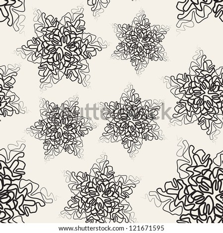 Vector seamless pattern. Texture with six-pointed tracery stars - stock vector