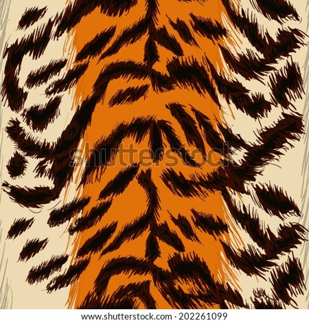 vector seamless  pattern -tiger skin - stock vector