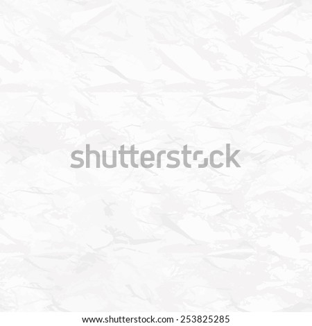 Vector seamless pattern. Tileable texture of crumpled paper. White rumpled background. Texture of wrinkled paper - stock vector