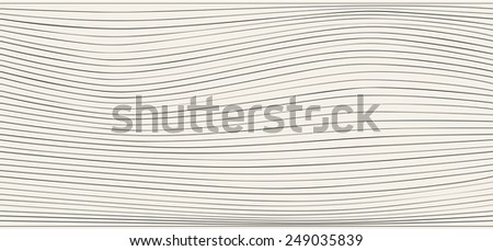 Vector seamless  pattern.Vector repeating texture. Wavy lines and the dotted heart - stock vector