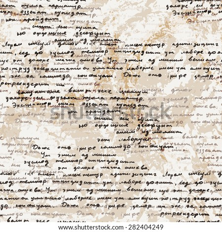 script writing stock images royalty images vectors vector seamless pattern a hand written latin text on the old dirty paper