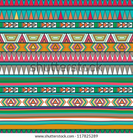 Vector Seamless Pattern with Abstract Lines. Geometric Art Print. fashion 80s-90s.  Tribal style design. Ethnic hipster backdrop. Wallpaper, cloth design, fabric, paper, cover, textile. Hand Drawn.