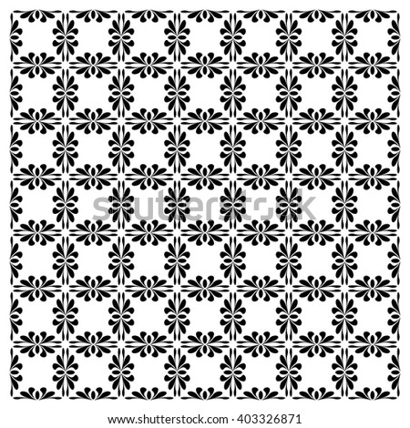 Vector seamless pattern with art ornament. Vintage design elements. - stock vector
