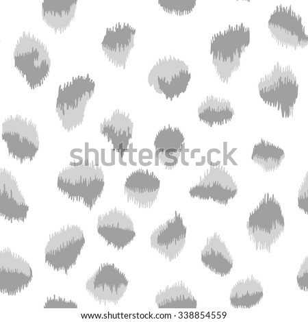 Vector seamless pattern with careless strokes. Abstract background with brush strokes. Monochrome hand drawn texture