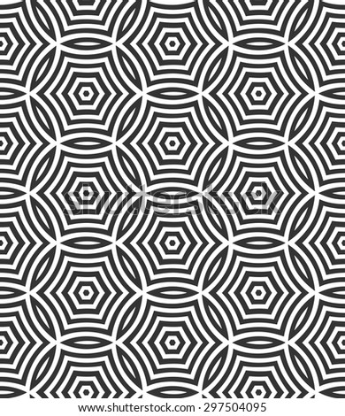 Vector seamless pattern with circles. Geometric stylish background. Repeating texture. Modern graphic design. Graphic ornament. - stock vector