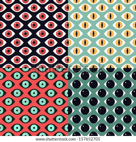 Vector seamless pattern with eyes