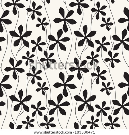 Vector seamless pattern with flowers. Abstract floral texture. Graphic petunias - stock vector