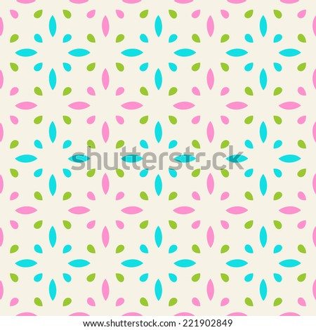 Vector seamless pattern with geometric ornament. Color decorative ethnic illustration for print, web - stock vector